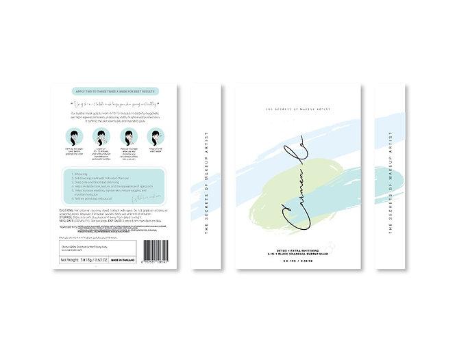 6-IN-1 BLACK CHARCOAL BUBBLE MASK (1set/3pcs)