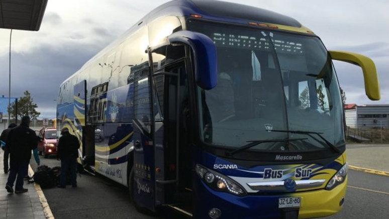 Ônibus PUNTA ARENAS (Aeroporto) - PUERTO NATALES (Terminal)