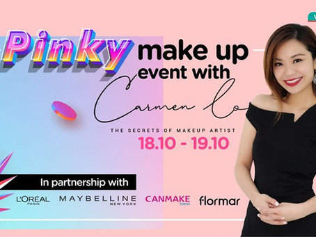 Event Pinky Makeup with CarmenLo x Watson's