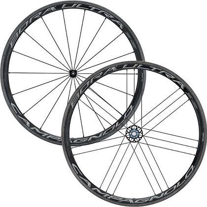 Campagnolo Bora Ultra 35 AC3 Tubular Carbon Wheelset (Black)