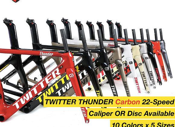 TWITTER THUNDER Carbon 22-Speed Road Bike