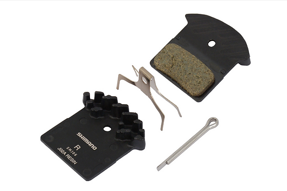 Shimano J02A Resin Disc Brake Pad with Cooling Fin