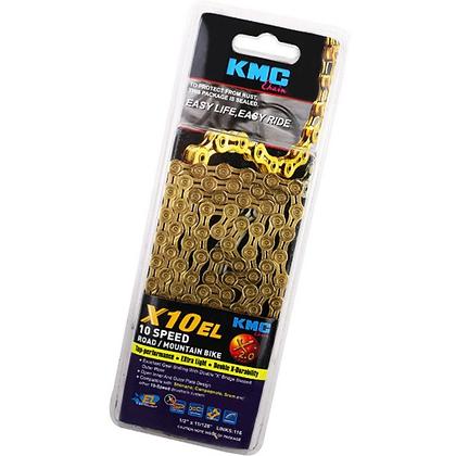 KMC X10 EL 10-Speed Chain (Gold)