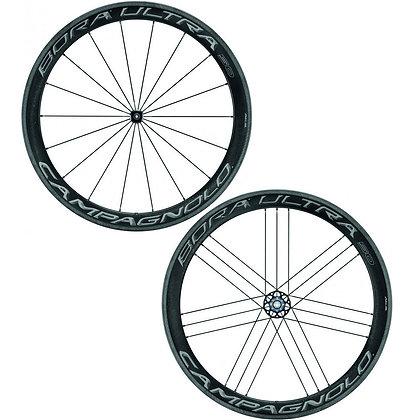 Campagnolo Bora Ultra 50 AC3 Tubular Carbon Wheelset(Black)