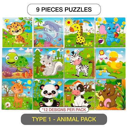 9 Piece Puzzles - [Art and Craft Bundle]