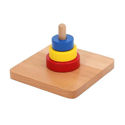Montessori Discs on Vertical Dowel