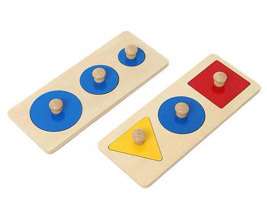 Montessori Shape Recognising Puzzle / Multi Shapes Puzzle