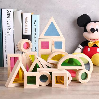 Kidpik Rainbow Building Blocks