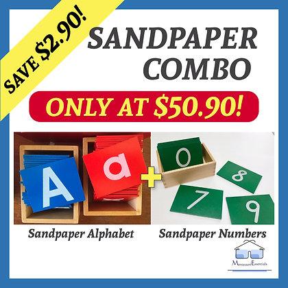 Montessori Sandpaper Alphabets + Numbers Combo