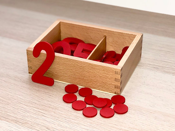 Montessori Cut Out Numbers and Counters