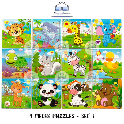 9 Piece Puzzles - [Art and Craft Bundle]