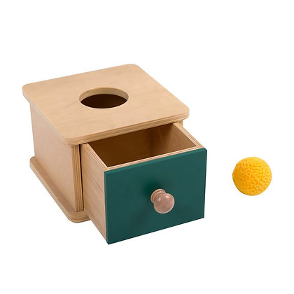 Montessori Imbucare Box with Knitted Ball