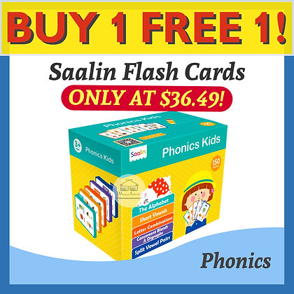 Saalin 150 Phonics Words Flash Cards