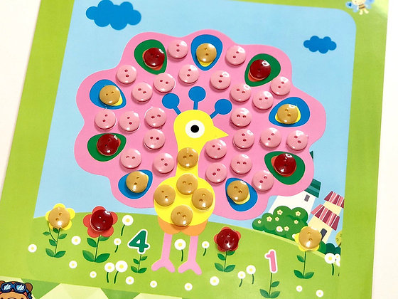 Sticky Button Art - [Art and Craft Bundle]