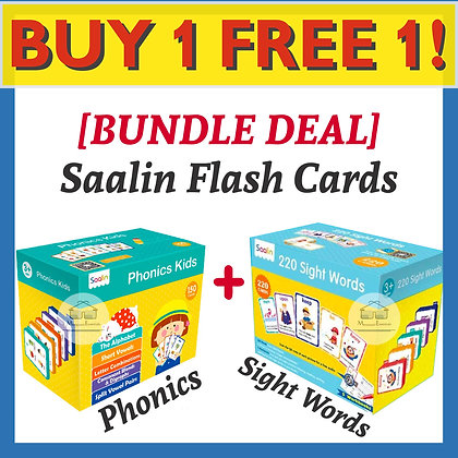 Saalin Sight Words + Phonics Flash Cards
