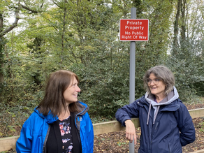 Sele Ward Labour Councillor Campaigns to Restore Open Access to Longwood Footpath