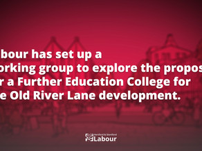Labour Sets Up Working Group to Explore Further Education College for Old River Lane