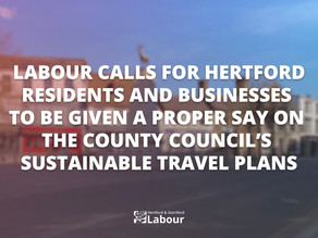 Labour Calls for Public Involvement in the County Council's Active Travel Strategy for Hertford