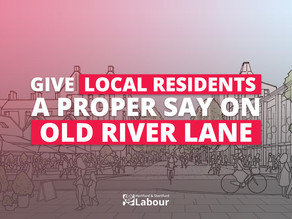 Hold A Full Public Consultation On Old River Lane