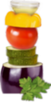 Gemüse Paprika Tomate Zucchini Aubergine Olivenöl