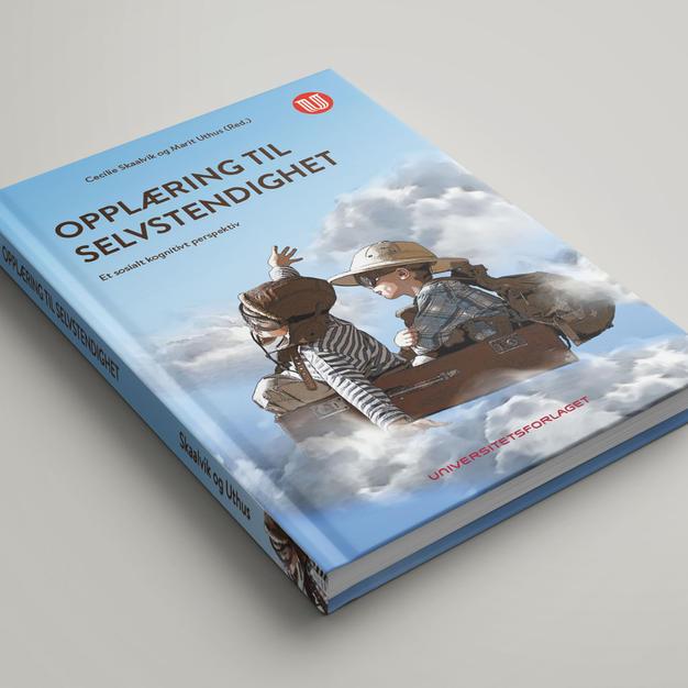 Opplæring til selvstendighet bokomslag illustrasjon