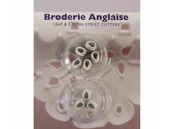 PME: Broderie anglaise - leaf & 3 petal eyelet cutters (set of 2)