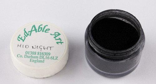 Edable Art colour dust - midnight (black)