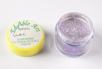 Edable Art sparkling dust - disco lilac (purple)