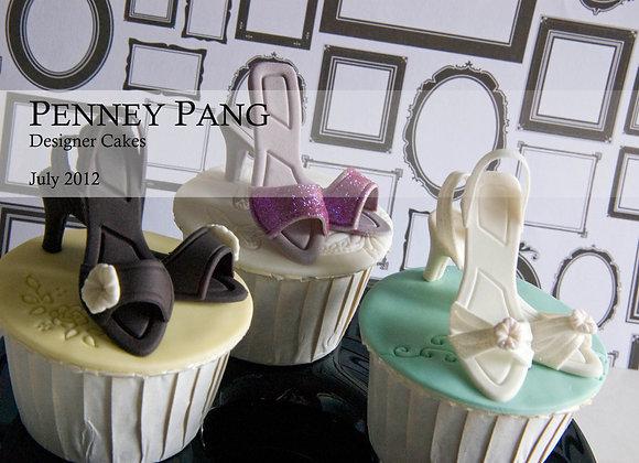 JEM:  Miniature ladies' shoe cutters (set of 9)