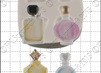 FPC Sugarcraft:  Perfume bottles silicone mould