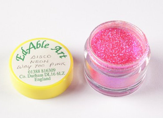 Edable Art sparkling dust - disco neon way too pink (pink)