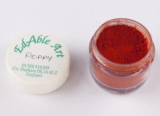 Edable Art colour dust - poppy (red)