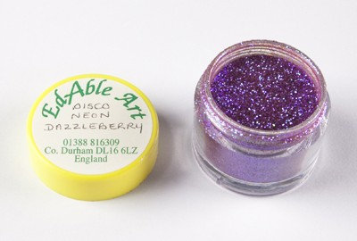 Edable Art sparkling dust - Disco neon dazzleberry (purple)