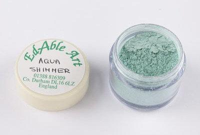 Edable Art lustre dust - aqua shimmer (green)