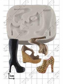 FPC Sugarcraft:  Multi shoe silicone mould