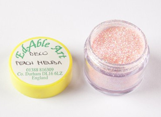 Edable Art sparkling dust - Disco peach melba (pink)