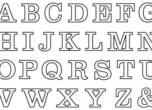 Patchwork Cutters:  Alphabet set (upper case)