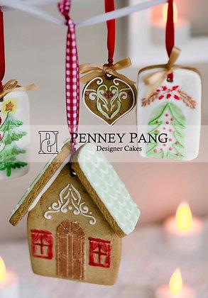 Designer Stencil:  Gingerbread house stencil & cutter set