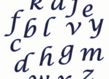 FMM:  Alphabet script set (lower case)