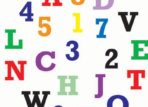 FMM:  Alphabet & number set (upper case)