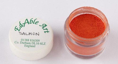 Edable Art colour dust - salmon (orange)
