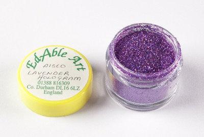 Edable Art sparkling dust - disco lavender hologram (purple)