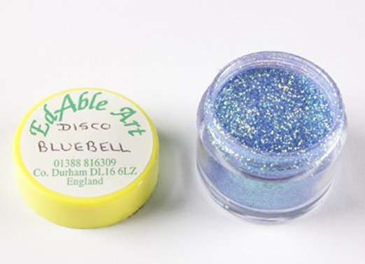 Edable Art sparkling dust - disco blue bell (blue)