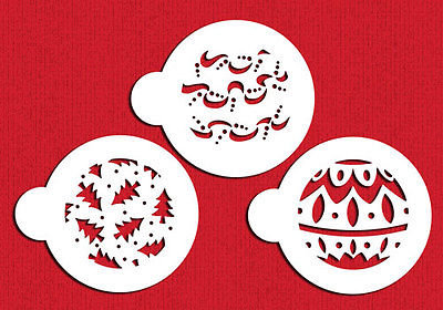 Designer Stencils: Mini Christmas balls stencils (set of 3)