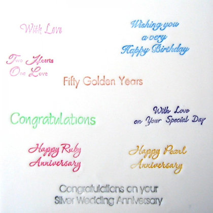 Patchwork Cutters:  Wedding / Anniversary / Birthday messages cutter set
