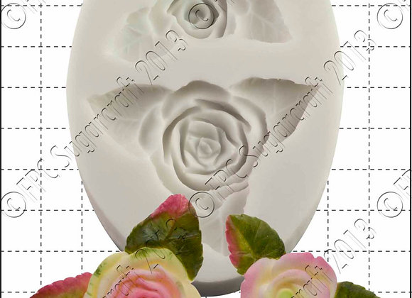 FPC Sugarcraft:  Roses & leaves silicone mould
