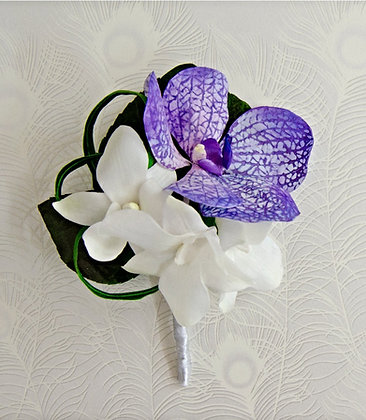 Single-sided Vanda orchid petal veiners (set of 2)