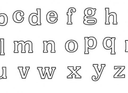 Patchwork Cutters:  Alphabets set (lower case)