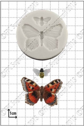 FPC Sugarcraft:  Butterfly & bee silicone mould