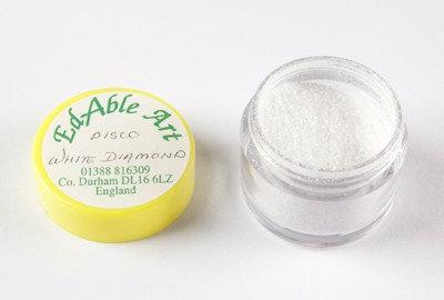 Edable Art sparking dust - disco white diamond (white)